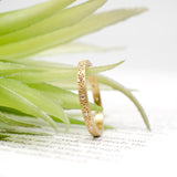 18k yellow gold diamond medium pattern stacking band