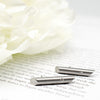 Stainless Steel & Diamond Pendulum Studs