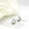 Diamond in Glass Stud Earrings