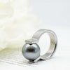 Tahitian Pearl & Diamond Victory Ring