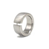 9mm Steel & Diamond Ring