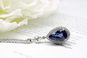 Tanzanite Drop Necklace