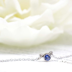 Sapphire Everyday Necklace in White