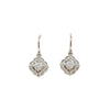 Scalloped Halo Dangles White