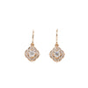 Scalloped Halo Dangles Rose