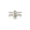 Diamond Double Shank Ring (Shield)