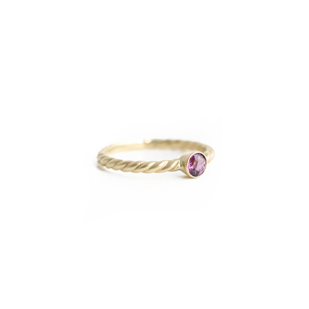 Grape Garnet Rope Ring