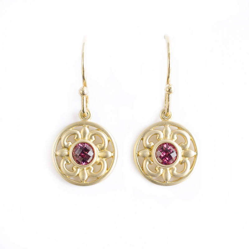 Vintage Style Garnet Earrings