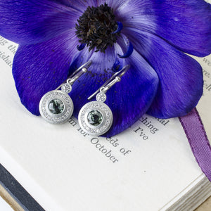 Sapphire Halo Earrings