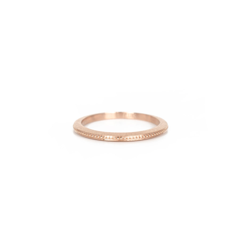 Vintage Series Rose Gold Milgrain Band