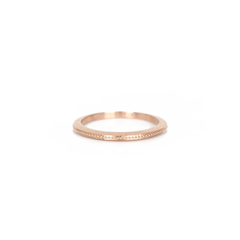 VP Rose Gold Milgrain Band