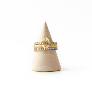 gold and diamond stacking rings
