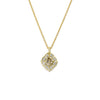 Champagne Scalloped Halo Pendant