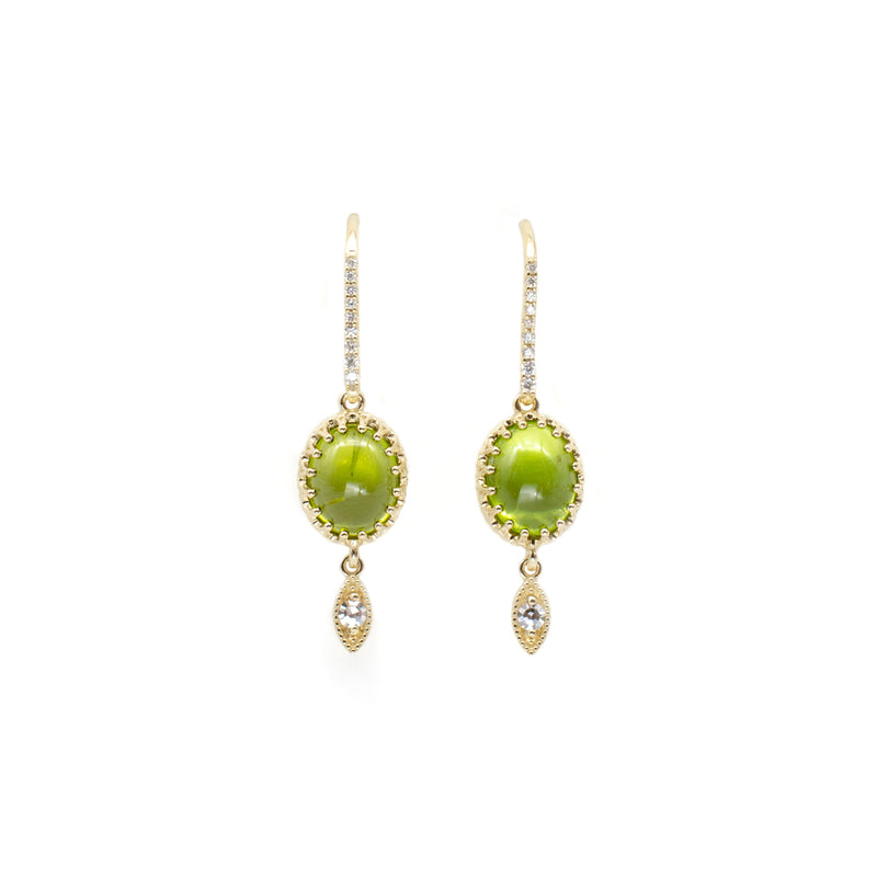 Peridot Crown Dangles