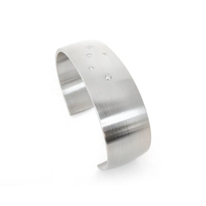 Diamonds in steel Cuff bracelet