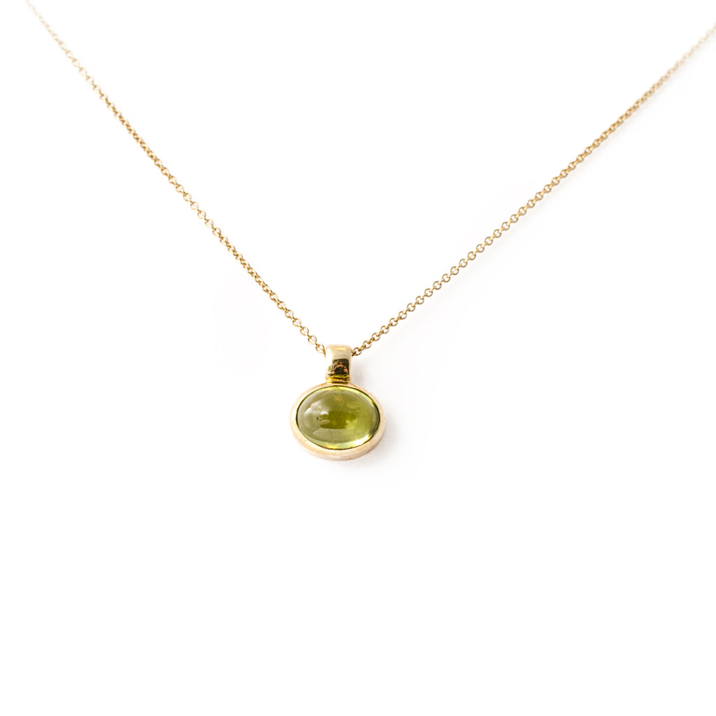 Peridot Cabochon Necklace