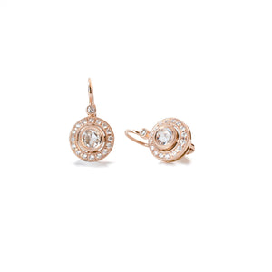 Rose Cut Diamond Leverback Earrings