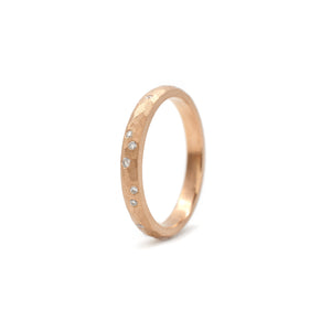 Hammered Galaxy Band Rose