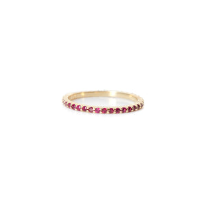 Ruby Shared Prong Eternity Ring
