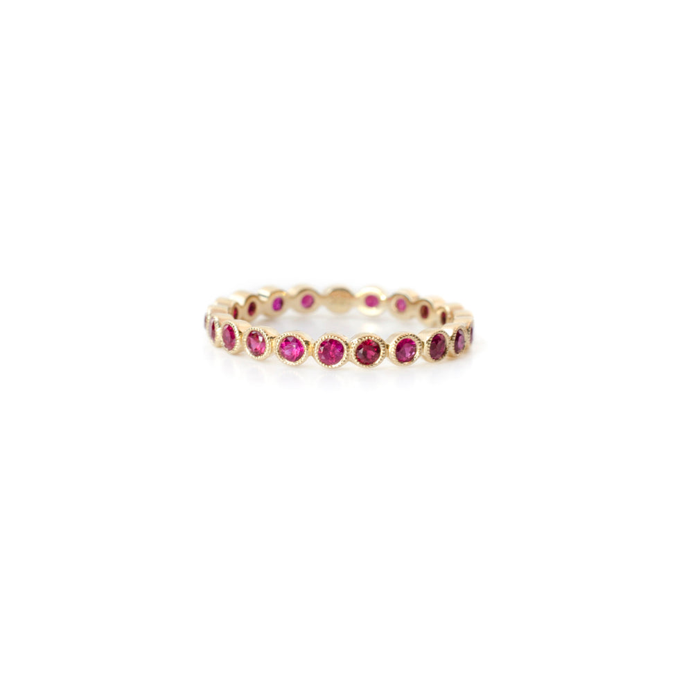 Round Ruby Eternity Ring
