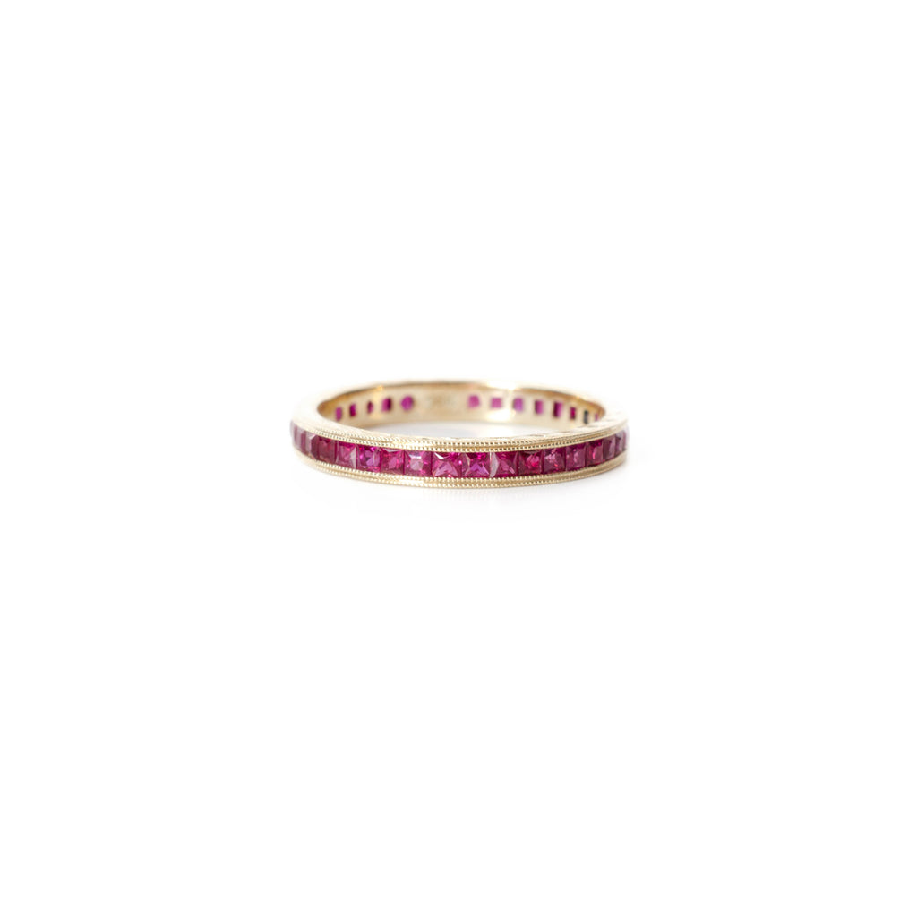 Princess Cut Ruby Eternity Ring
