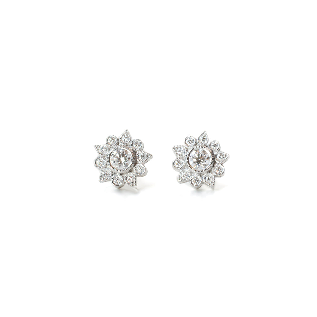 Diamond Sunflower Earrings