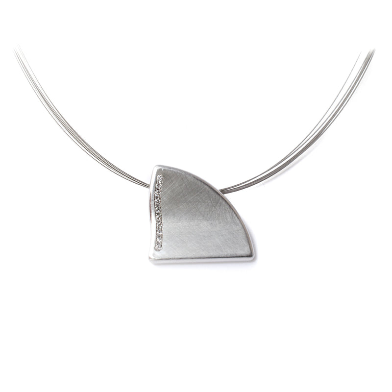 Steel & Diamond Alpenshark Pendant
