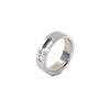 modern stainless steel moving diamond ring