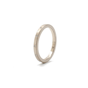 Offset Diamond Band White