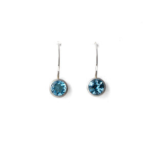 7mm Topaz Bezel Dangles