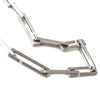 modern stainless steel diamond necklace