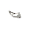 modern stainless steel diamond ring shark