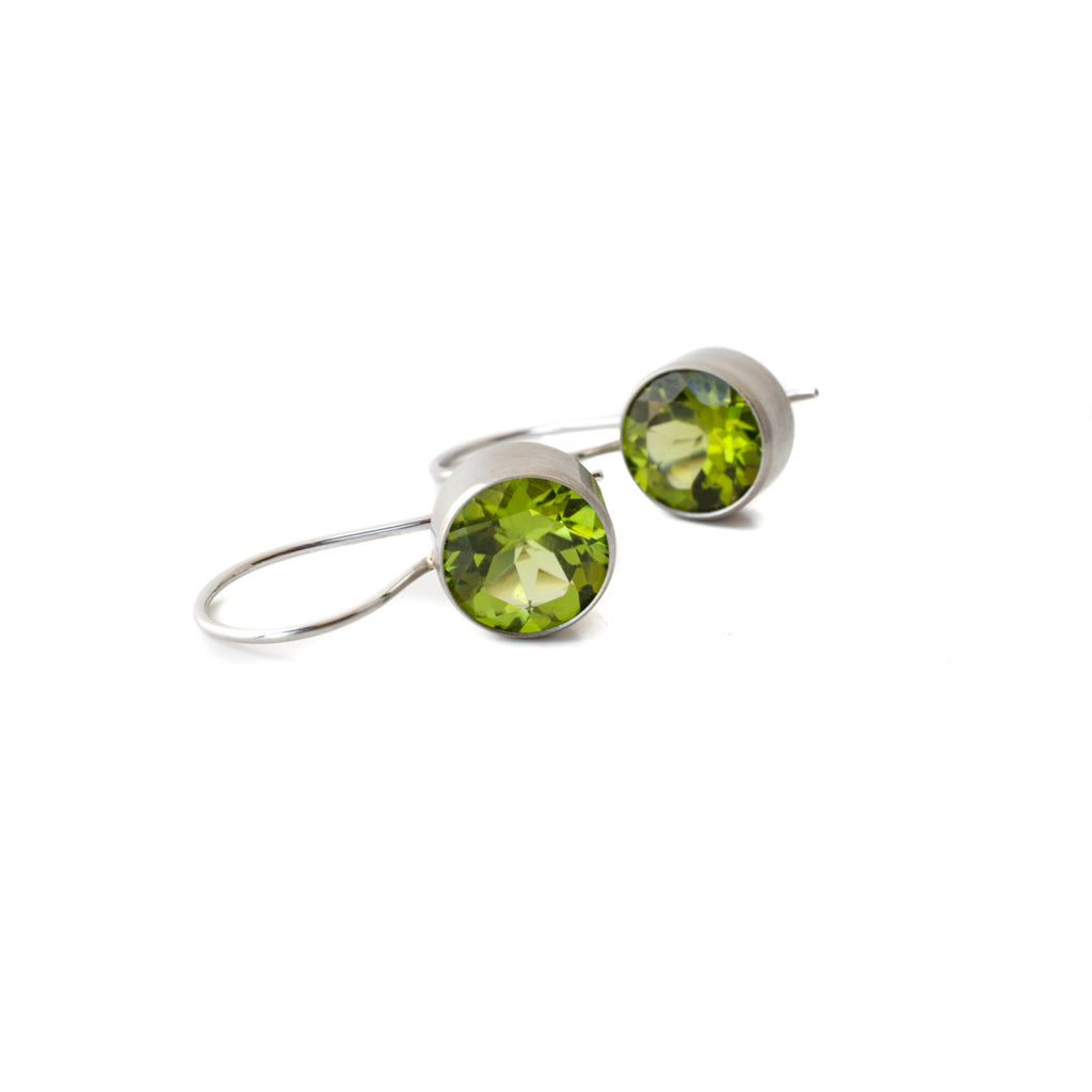 peridot stainless steel earrings