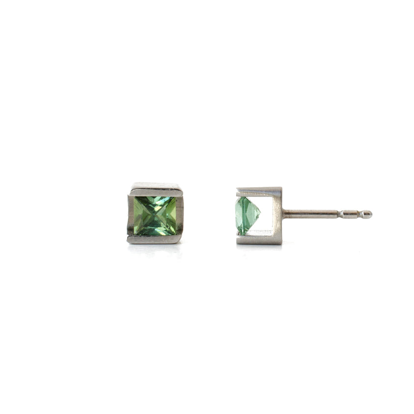 tourmaline stud earrings modern