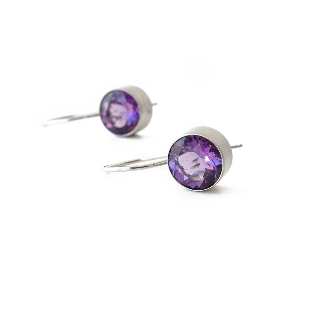 10mm Amethyst Bezel Dangles