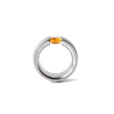 modern citrine ring stainless steel