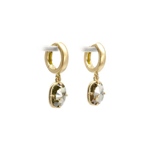 F Bezel Honey Earrings