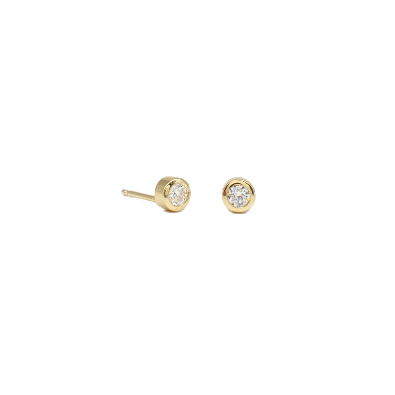 Bitty Bezel Studs Yellow
