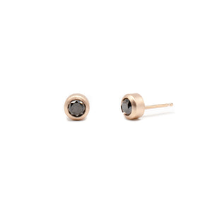 Black Diamond Studs Rose