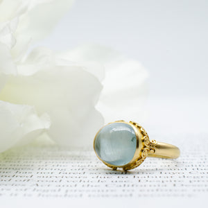 Cabochon Aquamarine Ring