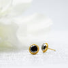22k Black Diamond Studs