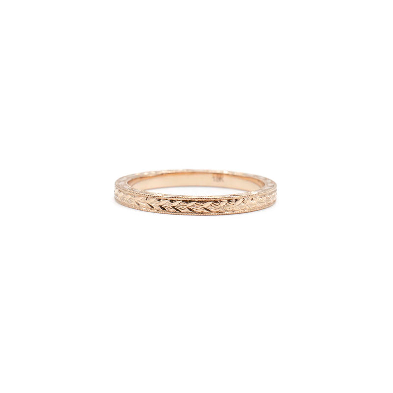 Flat Engraved Band Rose