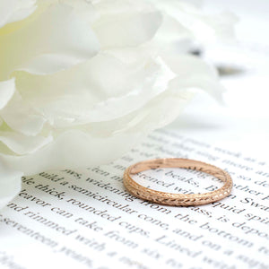 Thin Engraved Band Rose