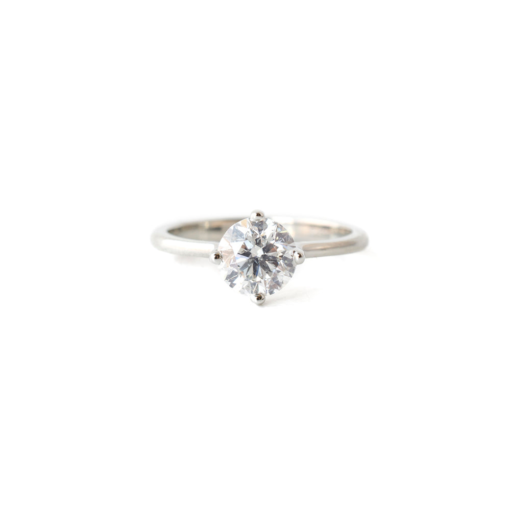 1 Carat White Gold Solitaire