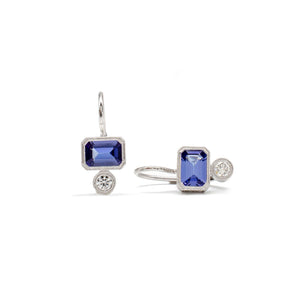 Engraved Duo Dangles (Tanzanite)