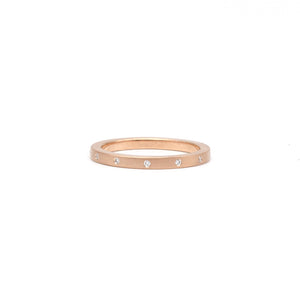 Offset Diamond Band Rose