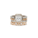 Offset Series Rose Gold Diamond Band