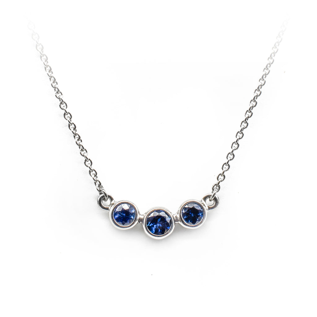 Sapphire 3-up Necklace
