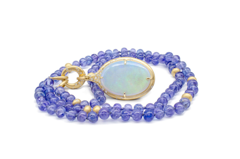 Tanzanite Statement Necklace