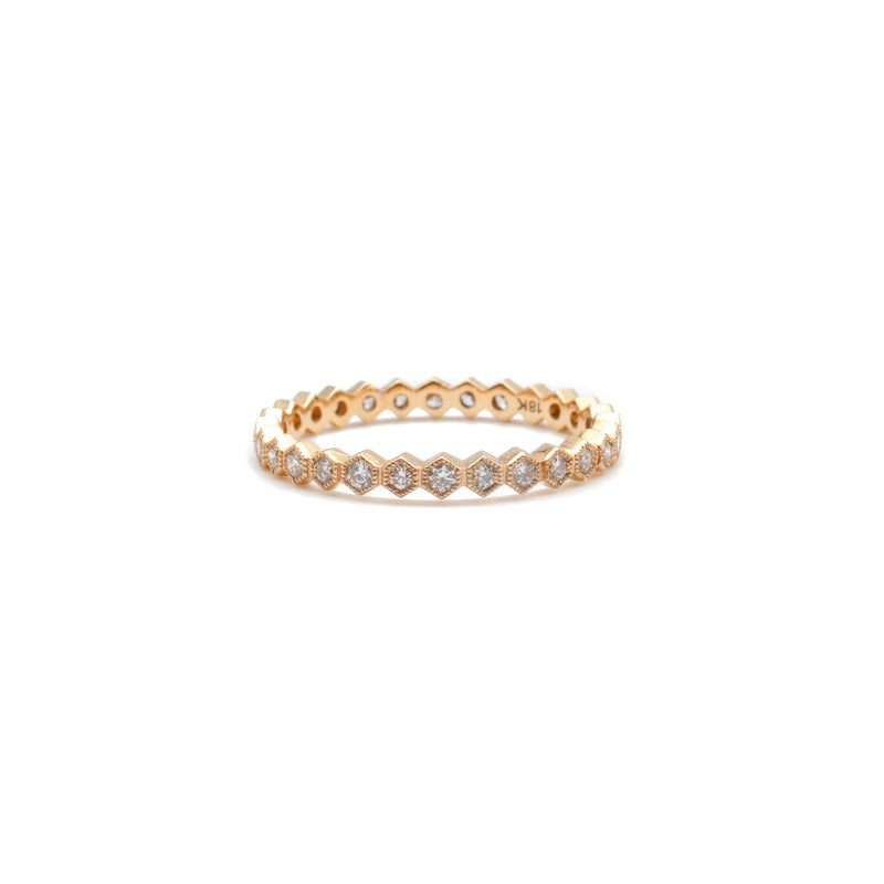 Rose Gold Honeycomb Ring